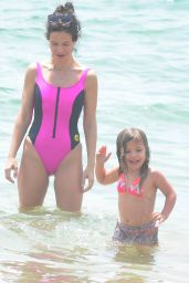 Tammin Sursok Enjoys a day at the Balmoral Beach with her family in Sydney, Australia