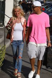 Tara Reid Spotted leaving Catch restaurant in West Hollywood