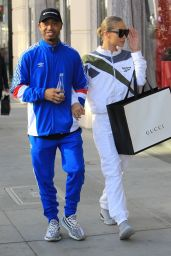 Terrence J and Jasmine Sanders do some last minute Christmas shopping in Beverly Hills
