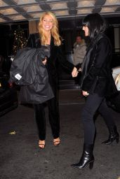 Tess Daly and Claudia Winkleman seen leaving the Dorchester Hotel In Mayfair, London