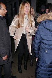 Tess Daly Arrives at BBC Broadcasting House in London
