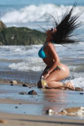 Val Fit Makes a splash in the Pacific Ocean while doing a sexy photoshoot for 138 Water in Malibu