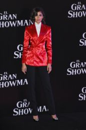 Zendaya At The Greatest Showman premiere red carpet at Oasis Coyoacan in Mexico City