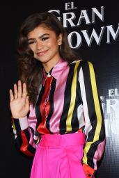 Zendaya At The Greatest Showman press conference at the Four Seasons in Mexico City