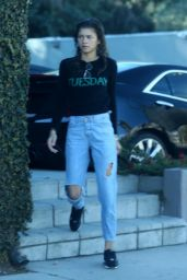 Zendaya Coleman Arrives at a studio in Universal City