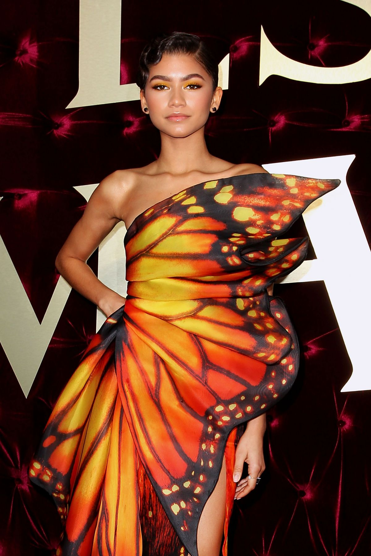 Zendaya Coleman At Red Carpet For Premiere Of The Greatest