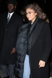Zendaya Seen Wearing Ralph Lauren Tuxedo Bear Sweater In NYC