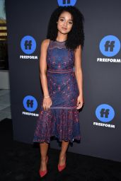 Aisha Dee At Freeform Summit, Arrivals, Los Angeles