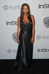 Aja Naomi King At InStyle & Warner Bros Golden Globes After Party in Los Angeles