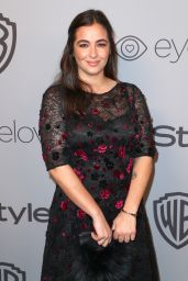 Alanna Masterson At InStyle and Warner Bros Golden Globes After Party in Los Angeles