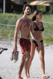 Alessia Tedeschi Seen with her boyfriend on the beach in Miami