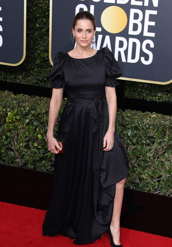 Amanda Peet At The 75th Annual Golden Globe Awards at The Beverly Hilton Hotel in Beverly Hills