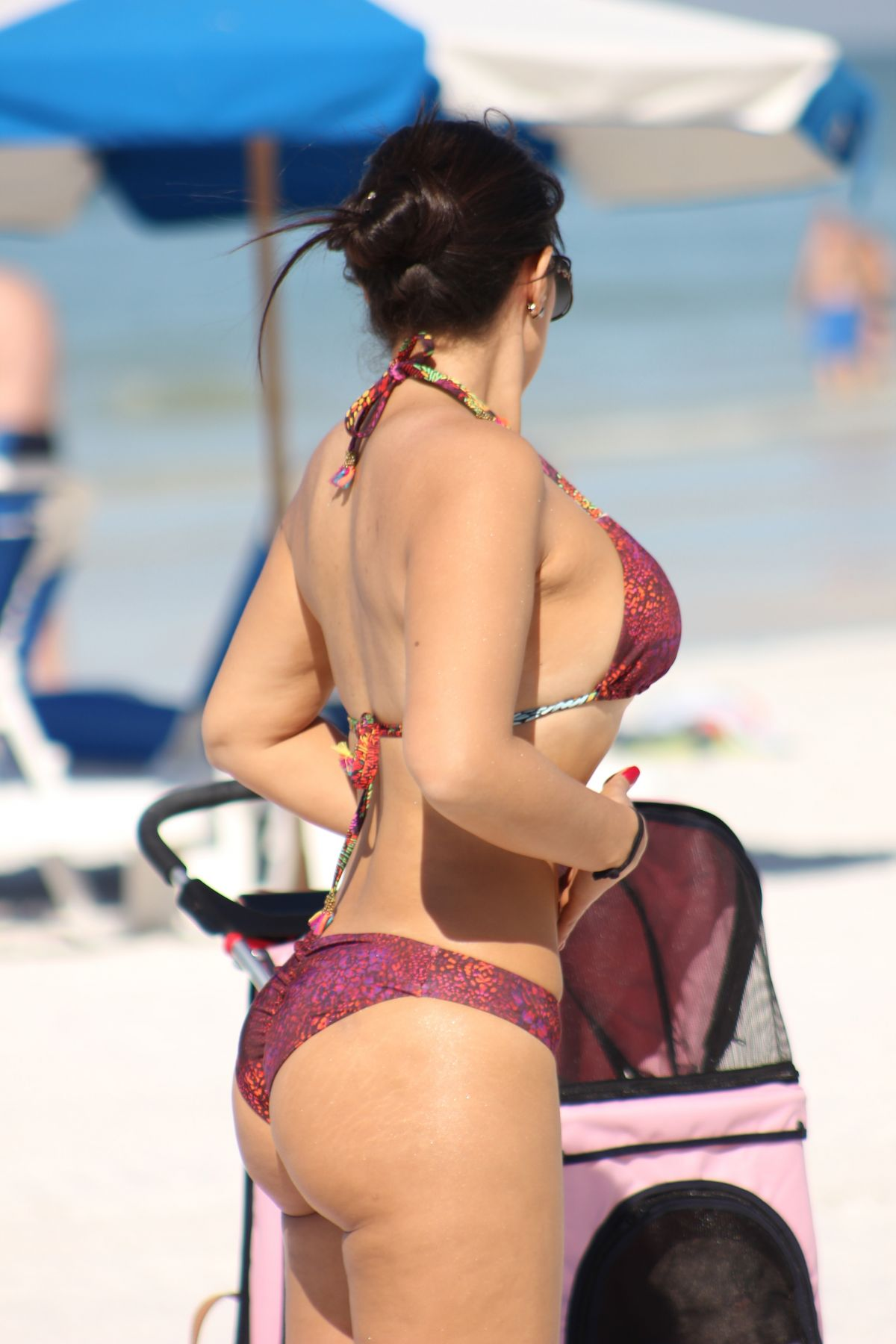 Isis Valverde in Red Bikini on the beach in Hawaii Pic 5 of 35