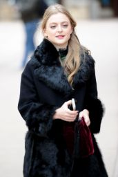 Anna Baryshnikov Wears a big winter jacket at the Sundance Film Festival 2018 in Utah