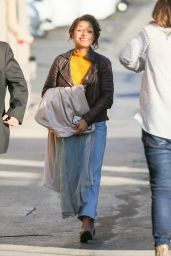 Antonia Thomas Is seen arriving at