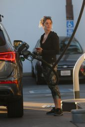 Ashley Greene Stops at a gas station with Paul Khoury in LA