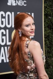 Barbara Meier At The 75th Annual Golden Globe Awards at The Beverly Hilton Hotel in Beverly Hills