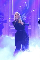 Bebe Rexha Performing with Florida Georgia Line on the Jimmy Fallon Show in NYC
