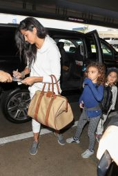 Camila Alves Spotted arriving at LAX Airport with her son and daughter