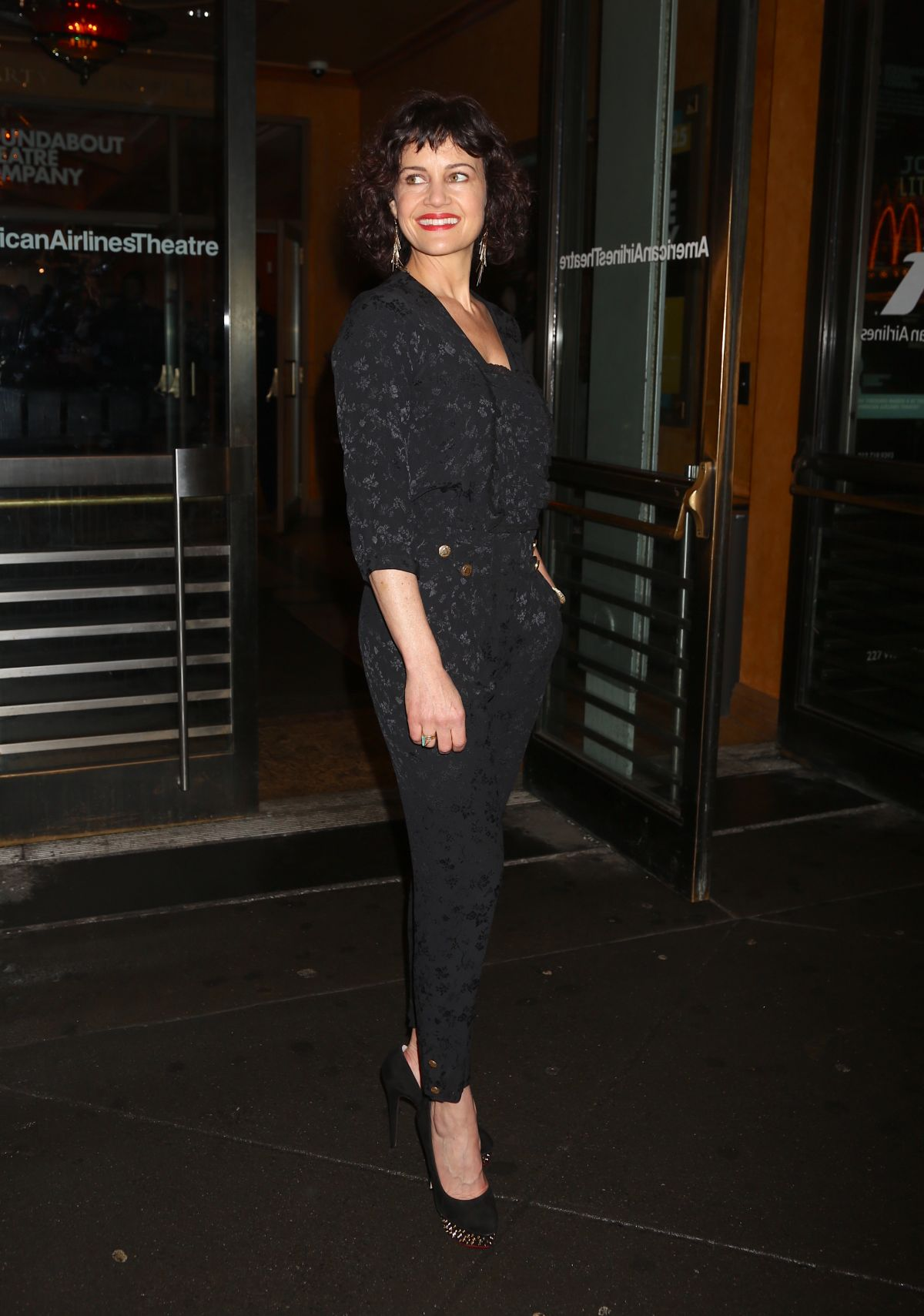 Carla Gugino At Opening Night Arrivals for John Lithgow Stories By Heart, on Broadway at the American Airlines Theatre - New York
