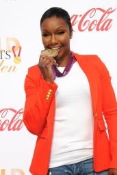 Carmelita Jeter At The 5th Annual Gold Meets Golden Event held at The House On Sunset in Los Angeles