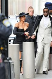 Cassie Are a striking pair as they head to the Roc Nation Luncheon in NYC