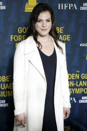 Daniela Vega At HFPA and American Cinematheque Present The Golden Globe Foreign-Language Nominees Series 2018 Symposium at the Egyptian Theatre in Hollywood