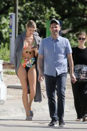 Devon Windsor On the set of a swimsuit photoshoot in Miami