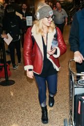Emily Bett Rickards Arrives for the Sundance Film Festival at Salt Lake City Airport in Utah