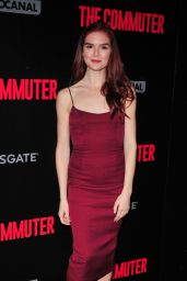Emily Tyra At The Commuter Premiere in New York