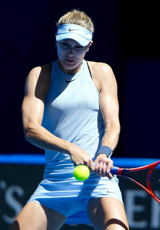 Eugenie Bouchard At Hopman Cup mixed Teams Tennis Tournament in Perth