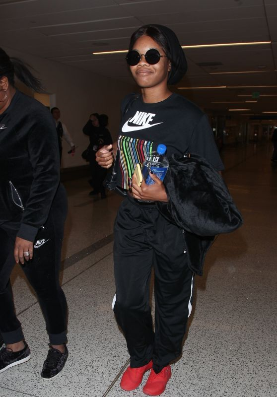 Gabby Douglas At LAX International Airport, Los Angeles