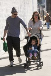 Haylie Duff Goes to the Farmers Market with her family in Studio City