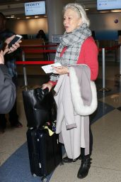 Helen Mirren Arriving at the Los Angeles International Airport