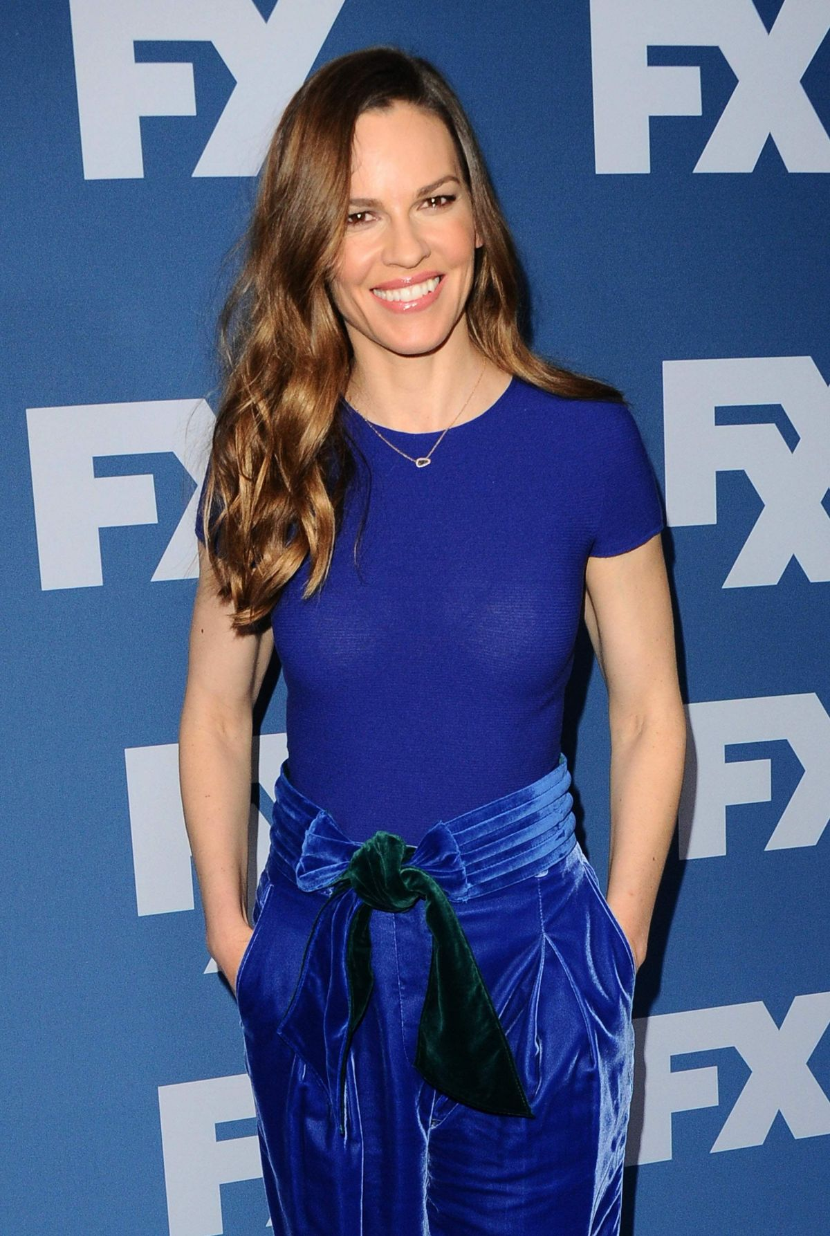 Hilary Swank At FX Sta...