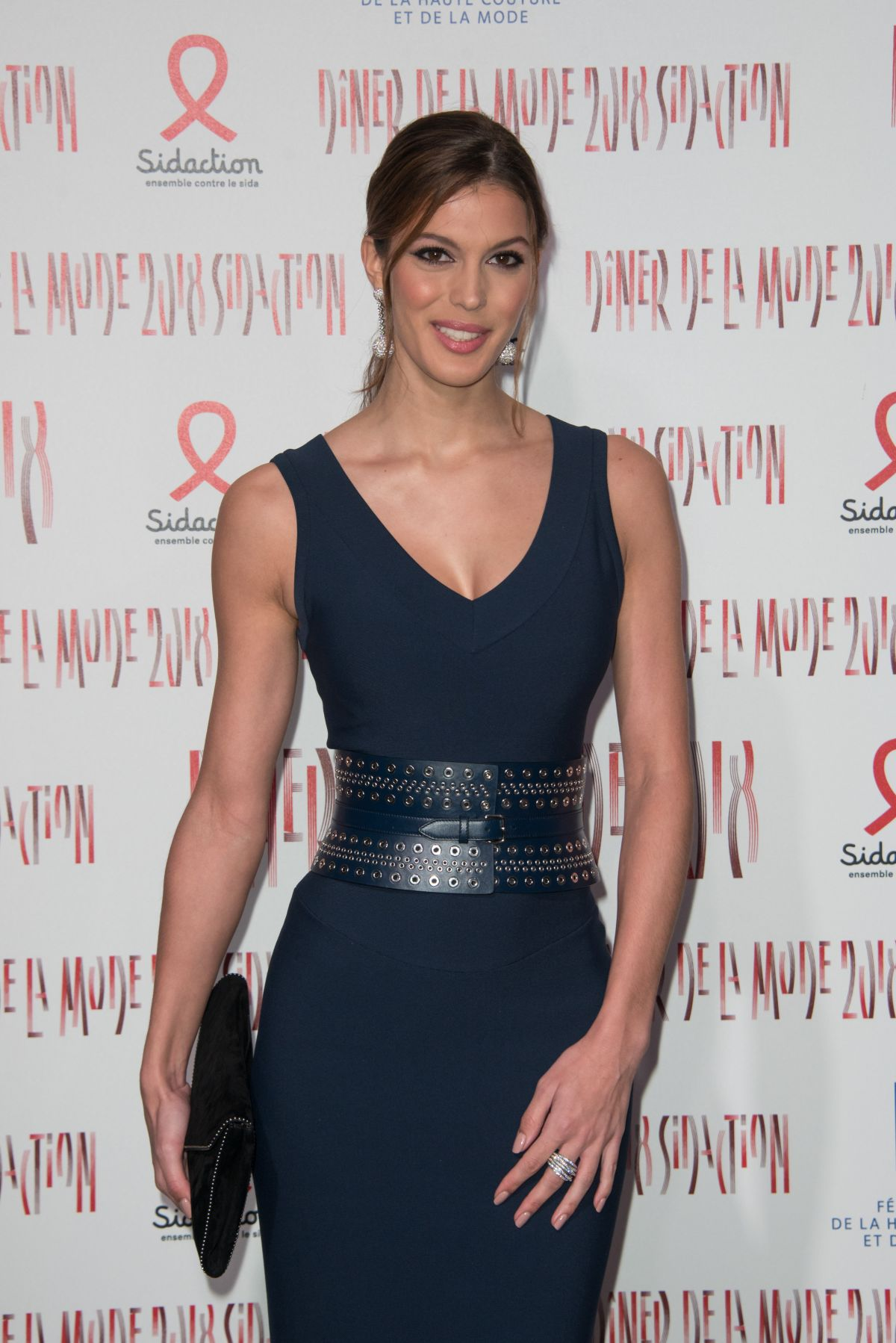 Iris mittenaere at sidaction gala dinner at haute couture for Couture garments
