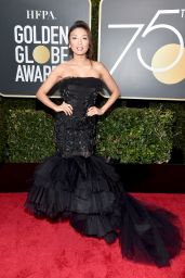 Jeannie Mai At The 75th Annual Golden Globe Awards in Beverly Hills