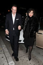 Joan Collins and Percy Gibson have date night at Craig