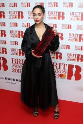Jorja Smith At The BRIT Awards 2018 nominations photocall held at ITV Studios in London