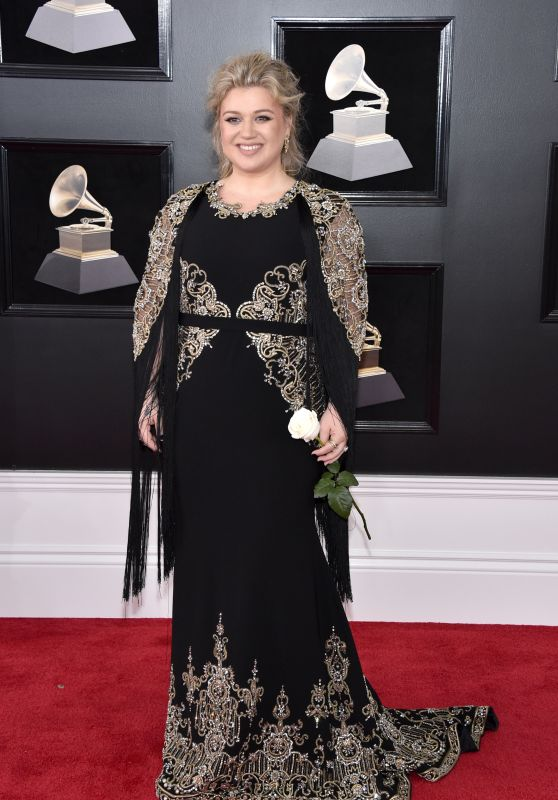 Kelly Clarkson At 60th Annual GRAMMY Awards at Madison Square Garden in NYC