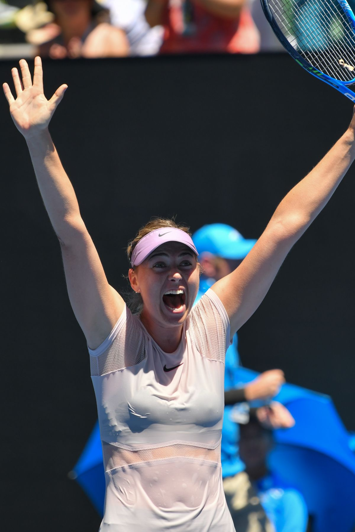 Maria Sharapova During day four of the Australian Open ...