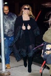 Mariah Carey Out and about in a frilly shawl in New York