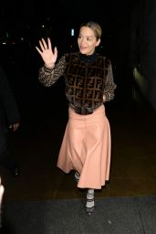 Rita Ora Arrives at BBC Radio 1 Studio in London