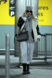 Rita Ora Seen at Heathrow Airport in London, England
