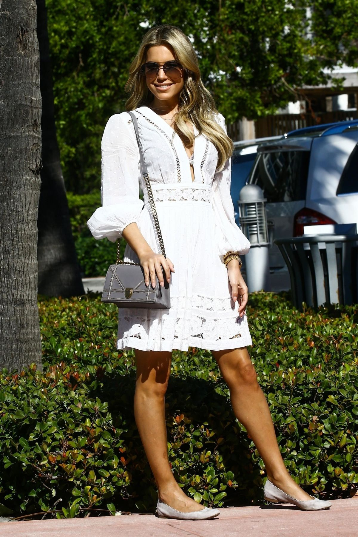 905aa9f479 Sylvie Meis Steps out in a white summer dress in Miami - Celebzz