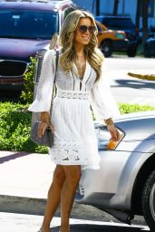 Sylvie Meis Steps out in a white summer dress in Miami