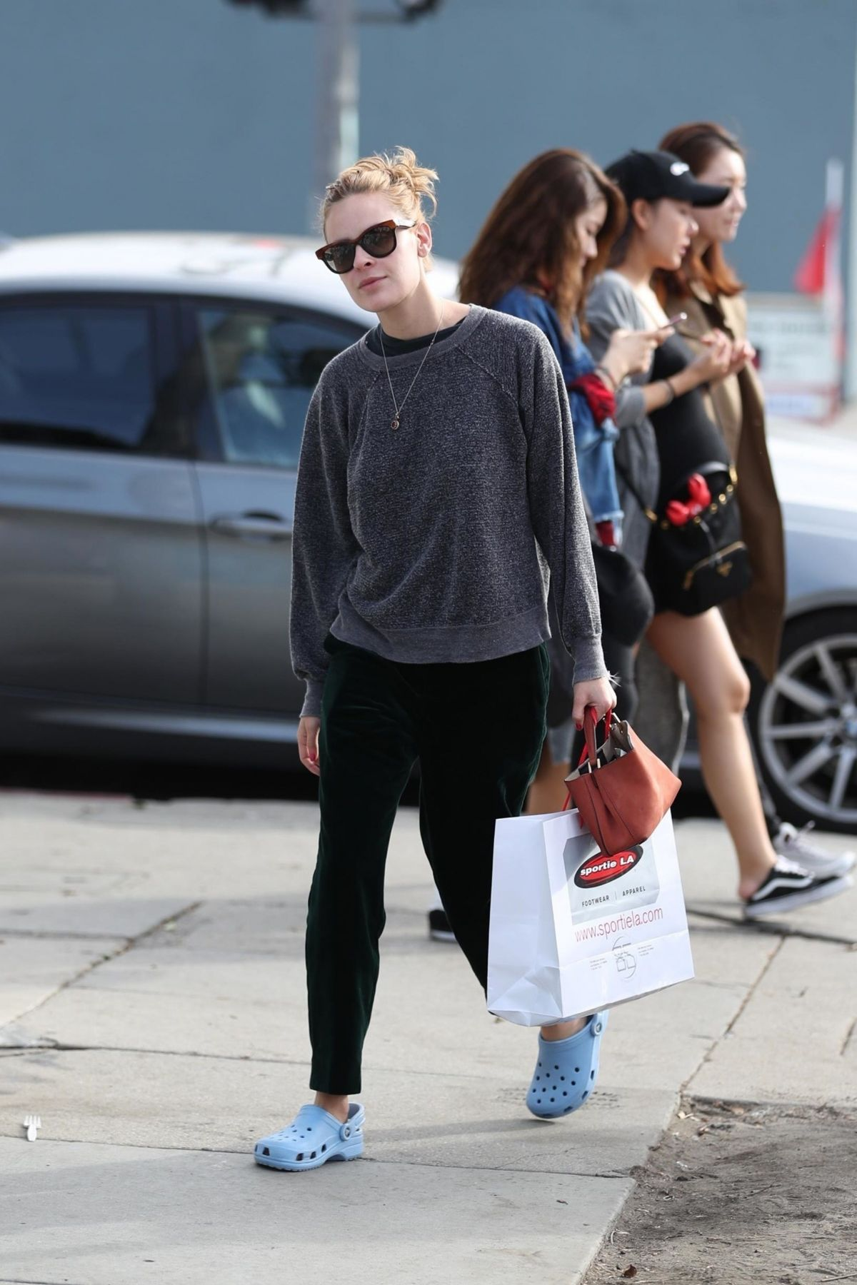 Tallulah Willis Shopping at Sportie LA on Melrose Avenue in