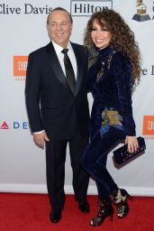 Thalia At Clive Davis and Recording Academy Pre-GRAMMY Gala and GRAMMY Salute to Industry Icons in New York