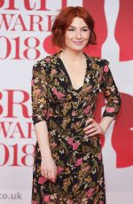 Alice Levine At 38th Brit Awards, Arrivals, The O2 Arena, London, UK