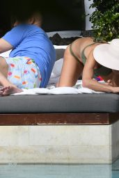 Bethenny Frankel Is seen cuddling with mystery man by the pool in Miami Beach